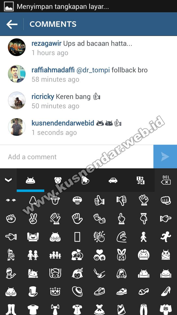 Instagram Android Emoji