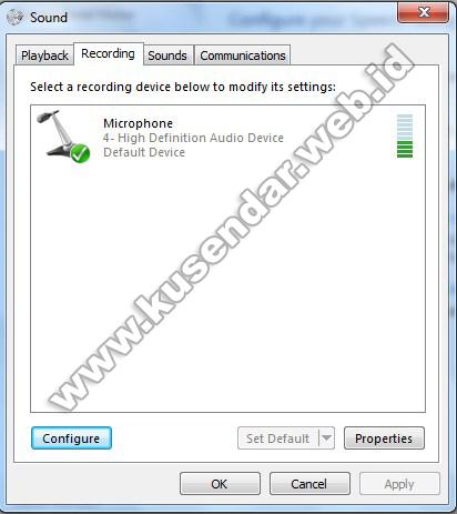 mengaktifkan microphone windows 7