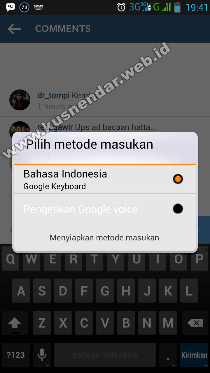 Cara mengganti keyboard emoticn android