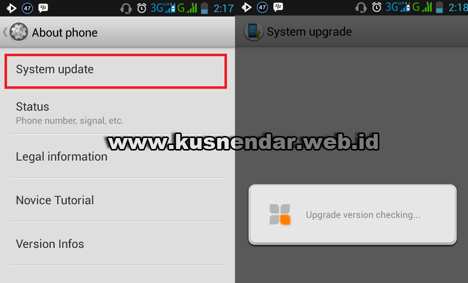 cek upgrade os Android