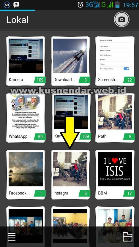 Folder Penyimpanan Foto Instagram