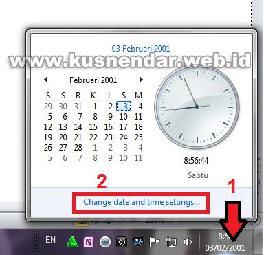 merubah tanggal di windows 7