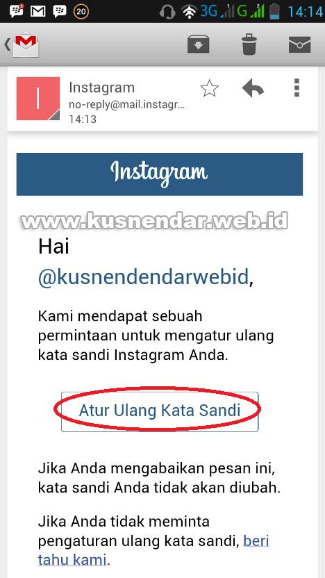ganti password instagram