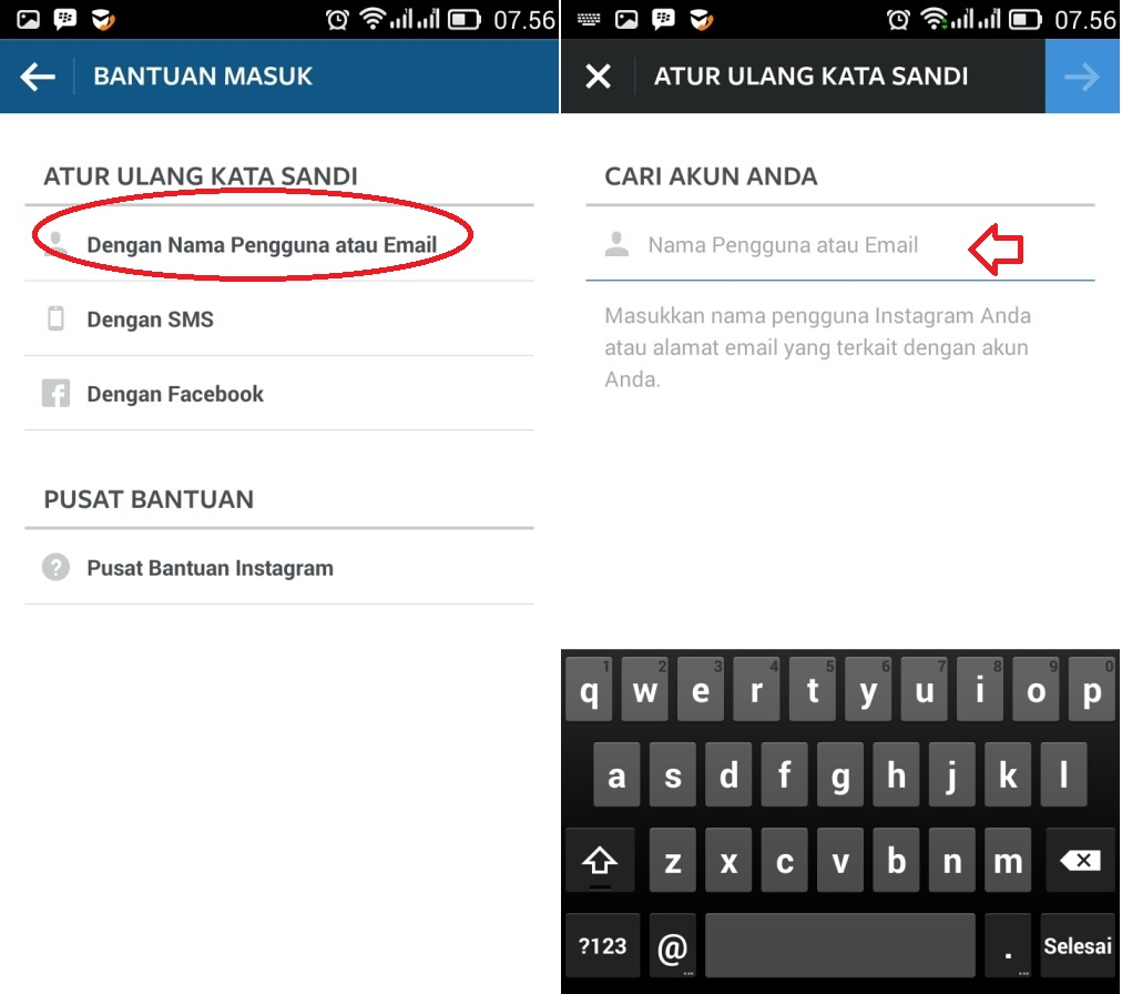 ganti password via email instagram Terbaru