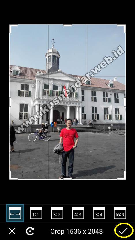 setting background foto