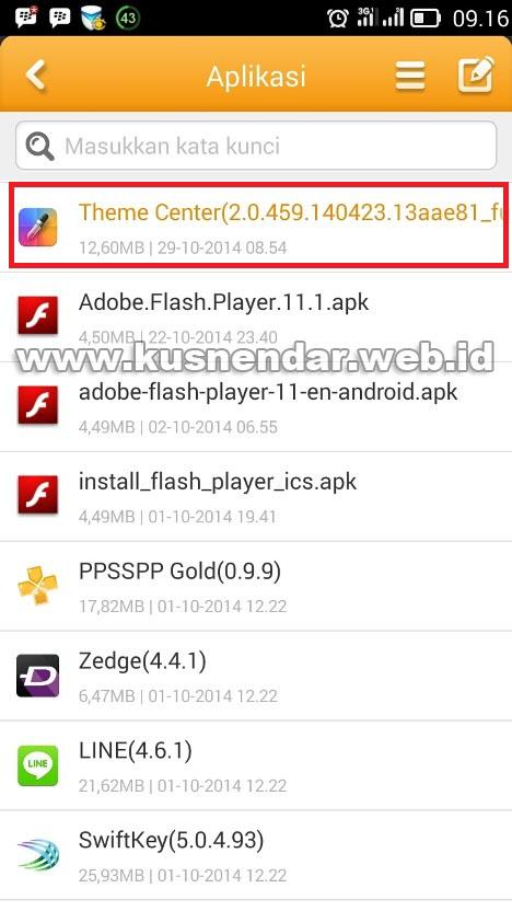 file apk di android