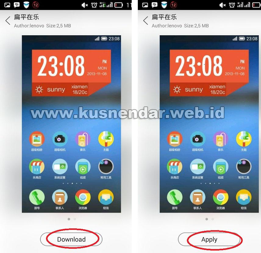 Cara Menambah Tema HP Lenovo OS Android KitKat | Kusnendar