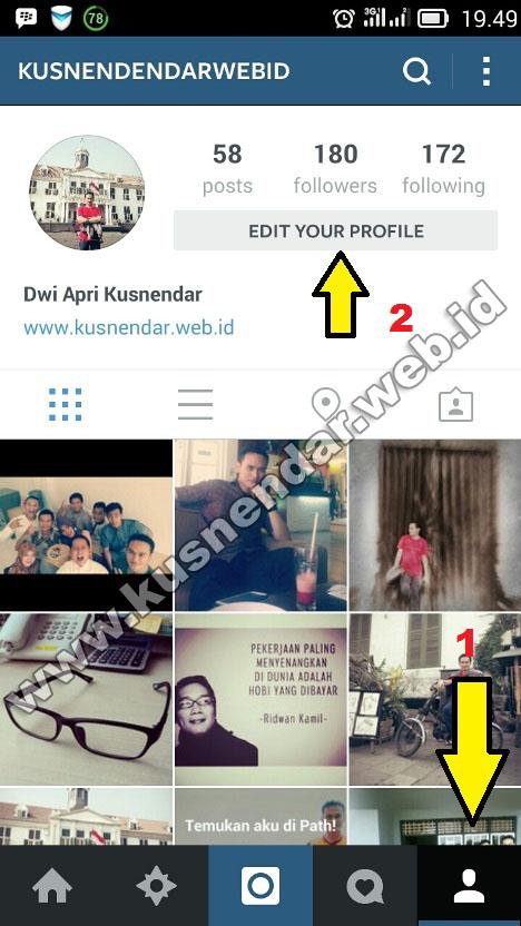 mengganti nama instagram