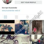 mengganti username id instagram