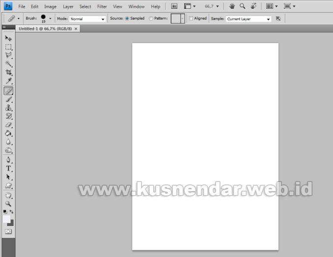 ukuran kertas A4 F4 di Photoshop