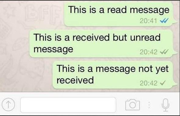 Simbol Read di Whatsapp