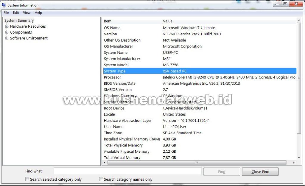 Mengetahui sistem 32 bit 64 bit