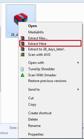 exstrak file zip