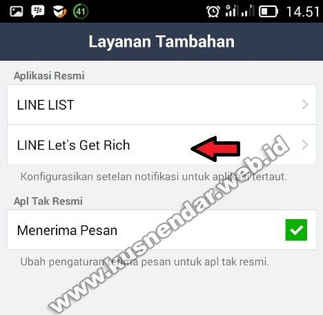 menghentikan notifikasi Get Rich