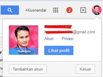 merubah foto profil di GMail