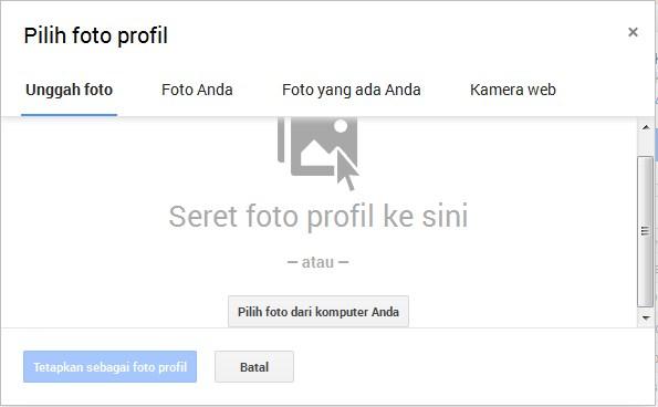 upload foto ke google