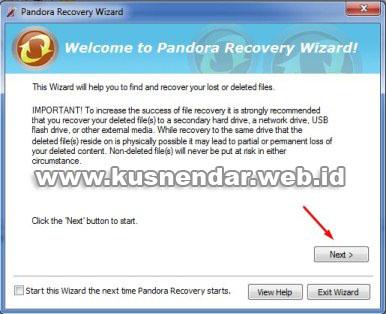 tutorial Menggunakan Pandora Recovery_2