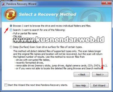 tutorial Menggunakan Pandora Recovery_5