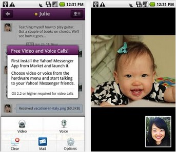 video call Yahoo Messenger di ANdroid
