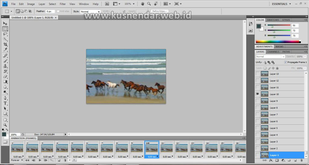 Import Video to Layer ke Photoshop