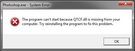 Cara Mengatasi Error QTCF.dll