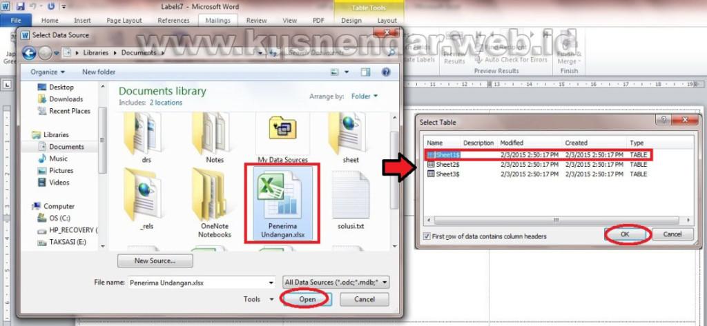 data base stiker label undangan