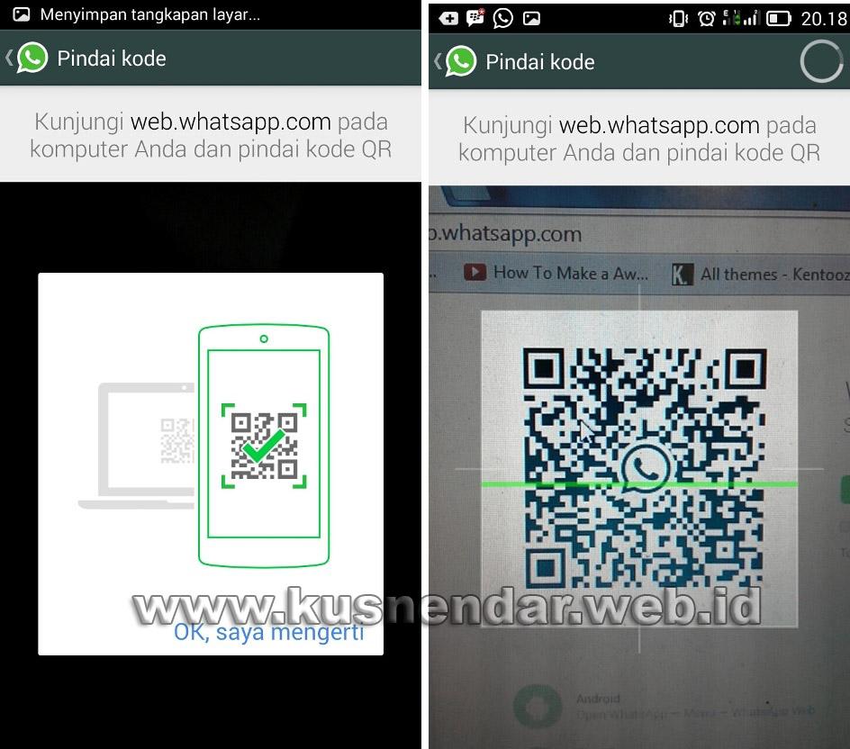 Cara login WhatsApp di Komputer