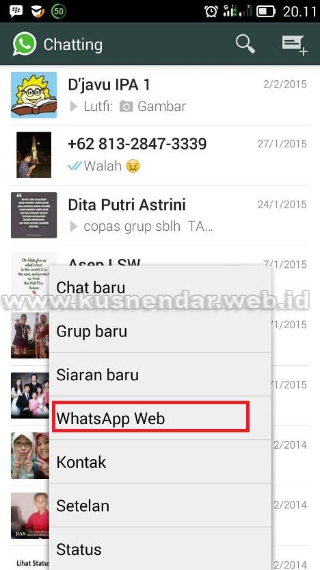 Cara mengaktifkan WhatsApp di Komputer