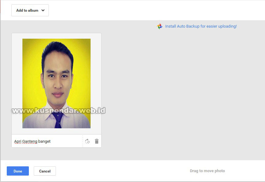 Caption foto di google