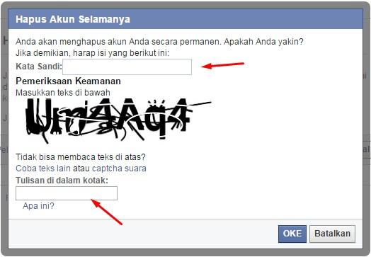 Delete akun FB Permanen