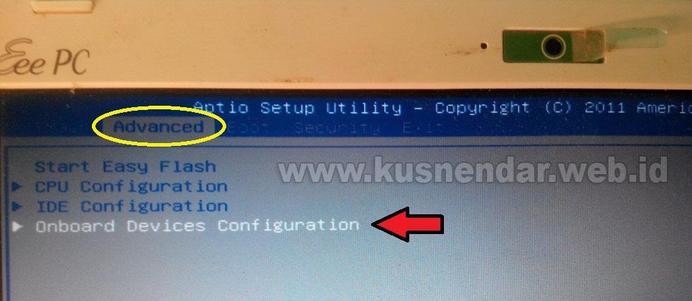 Setting tombol WiFi di Asus