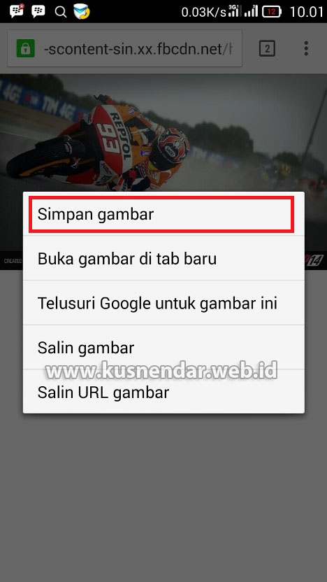Cara download foto FB dari Browser Android