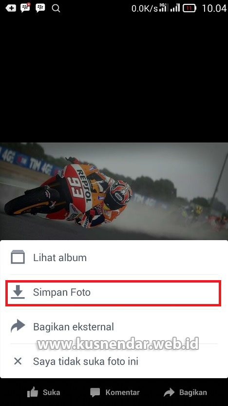 Cara download foto dari aplikasi FB Android