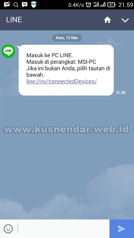notifikasi login line pc