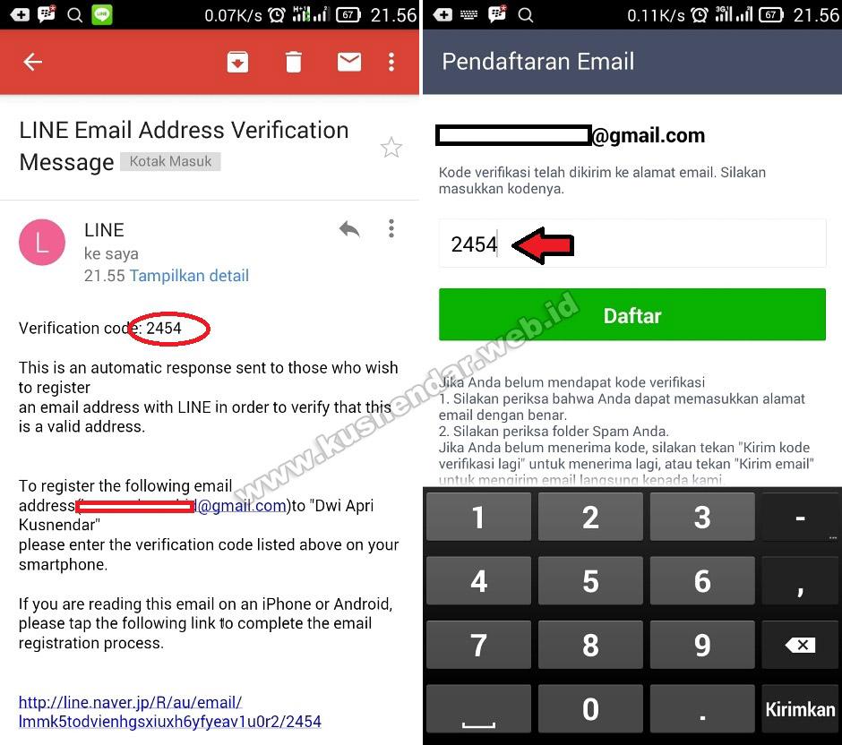 Verifikasi Email di Line