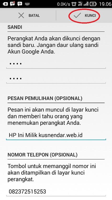 kunci HP Android pakai APlikasi