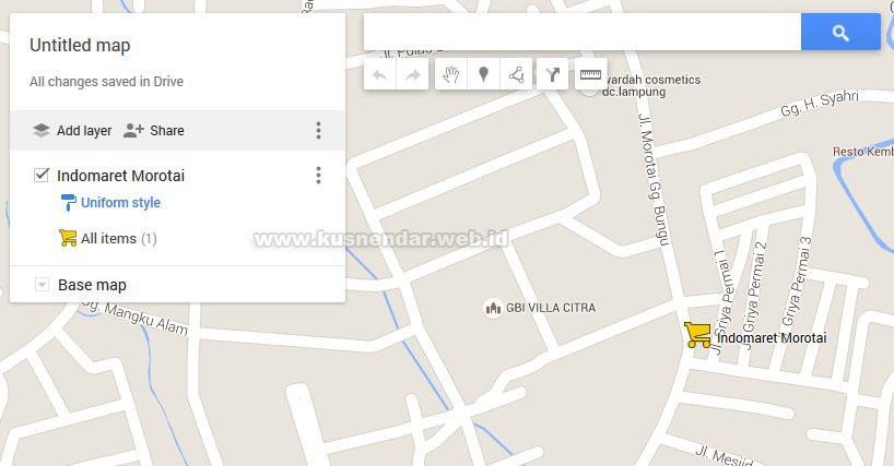 menambah nama tempat di Google Maps PC