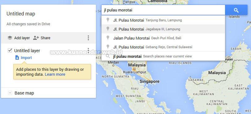 mencari lokasi map