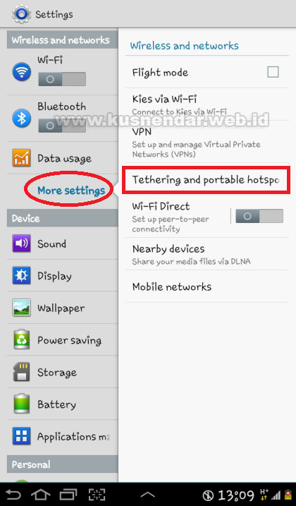 modem HP Samsung Android