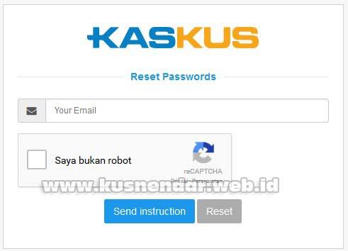 Form Lupa Password kaskus