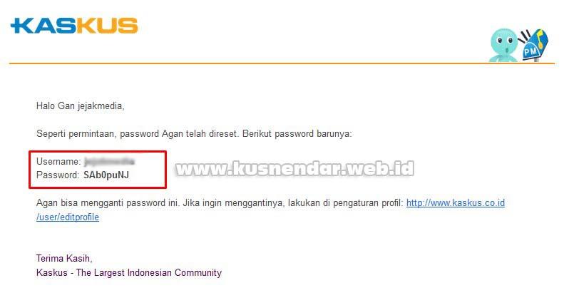 Reset Password Kaskus