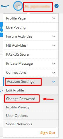 Cara Ganti Password kaskus