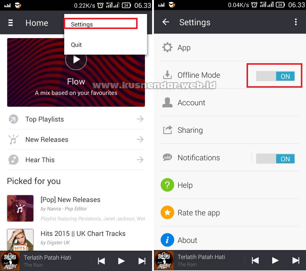 Offline Mode Aplikasi MP3 Online