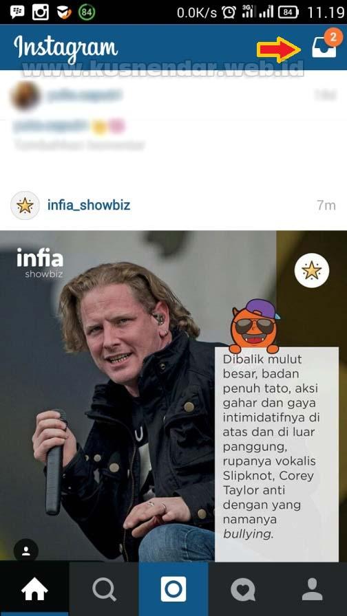 Pesan Masuk Instagram