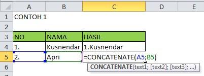 Rumus Gabung Kata Excel