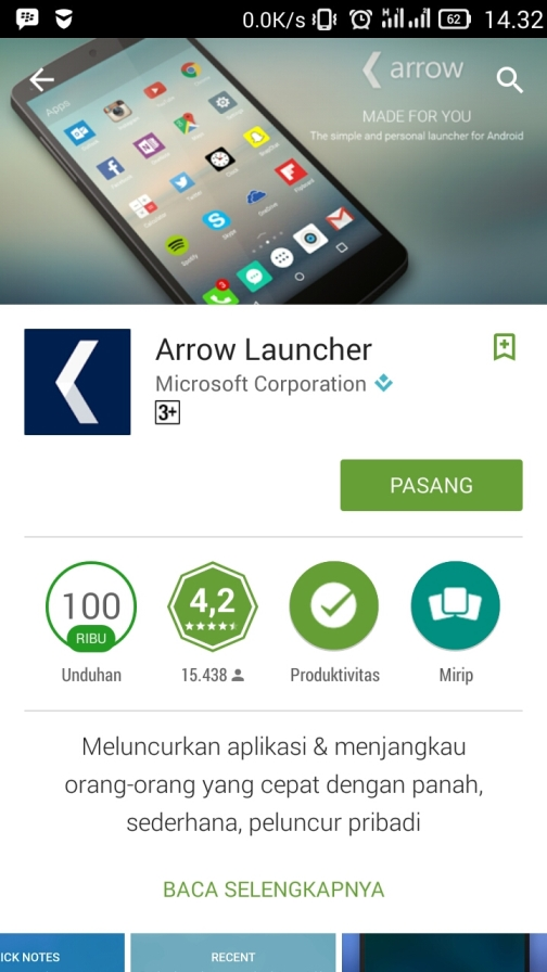 Aplikasi Arrow Launcher