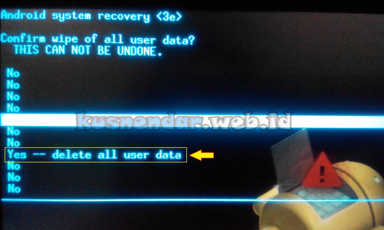 delete user data android