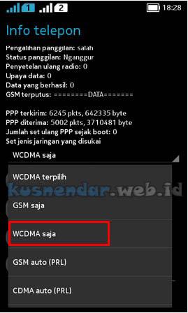 merubah edge ke 3G