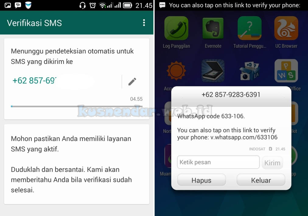 wait kode verifikasi Whatsapp