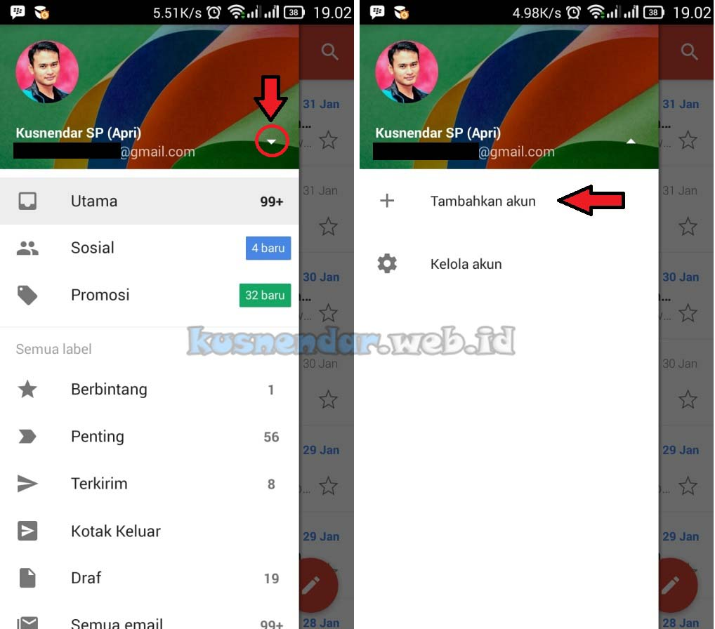 Tambah Email Yahoo di GMail Android